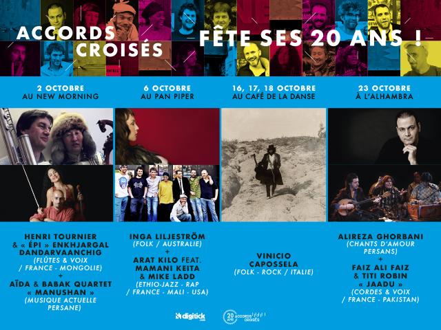ACCORDS CROISÉS FÊTE SES 20 ANS